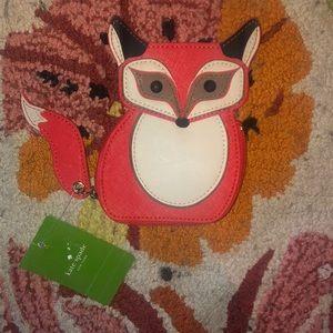 NWT! Kate Spade Fox coin purse